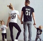 bag,swag,t-shirt,shirt,sweet,king and queen,matching couples,instagram,relationship goals,modern family,princess,white t-shirt,black t-shirt