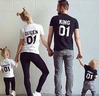 bag swag shirt sweet king and queen matching couples instagram relationship goals modern family princess t-shirt white t-shirt black t-shirt