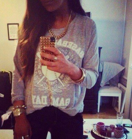 iphone case jacket print gray sweater stole style