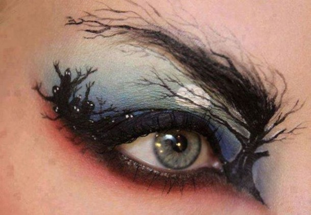 make-up halloween makeup eye makeup ghost