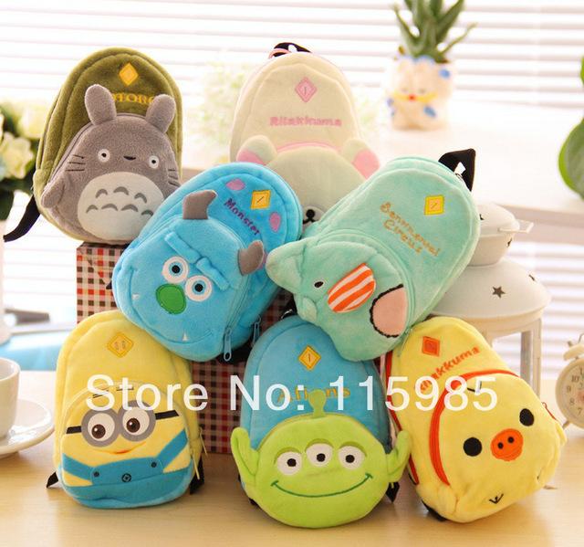 Online Shop Cartoon Despicable Me Monsters University Totoro mini bag  change purse children mini backpacks Movie ... 0dc4ca9be4d7e