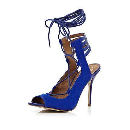 tie up ankle strap stiletto sandals - heels - shoes / boots - women