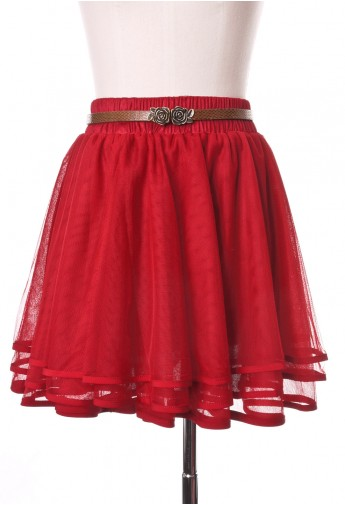 Delicacy Triple Layers Tutu in Red - Retro, Indie and Unique Fashion