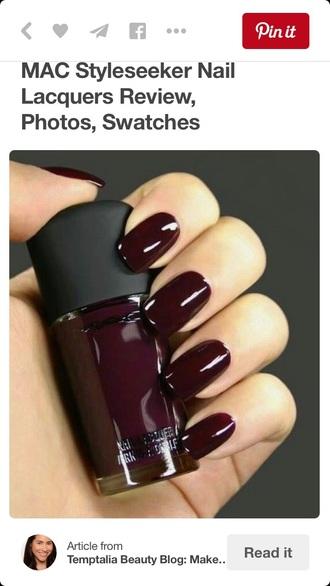 nail polish nails dark burgundy