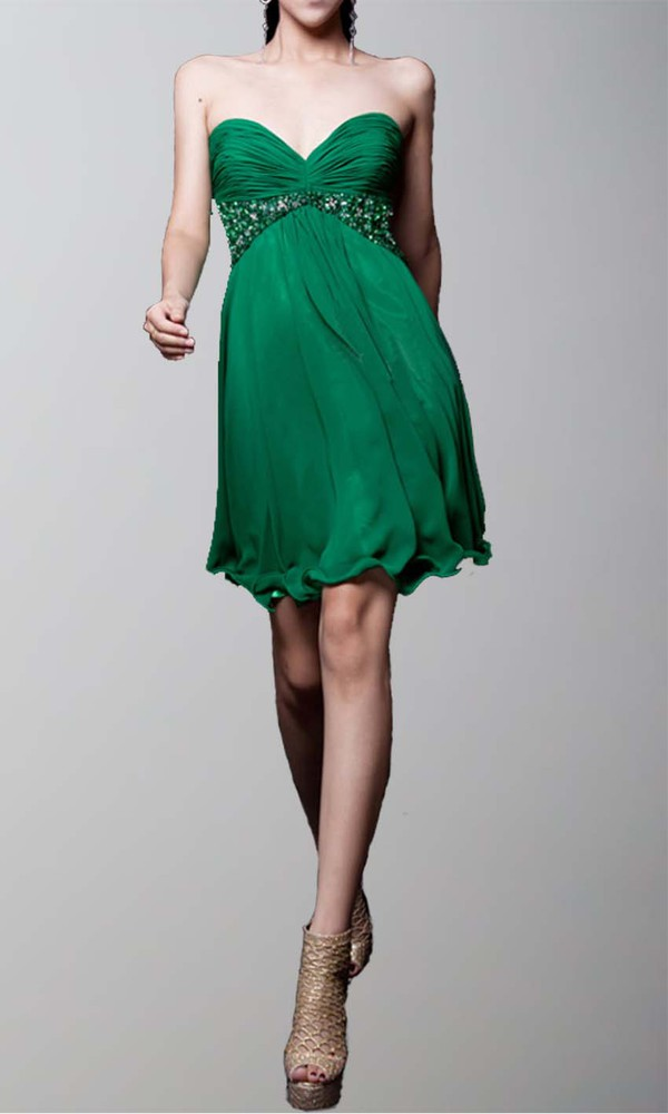 green dress short party dresses short prom dress empire waist dress sweetheart dress cocktail dress