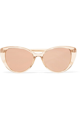 sunglasses mirrored sunglasses gold blush