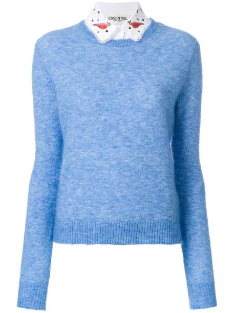 ESSENTIEL ANTWERP sweater women classic spandex vinyl abs blue