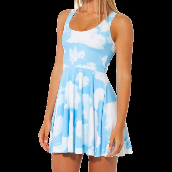 BOOGZEL   Clouds Skater Dress