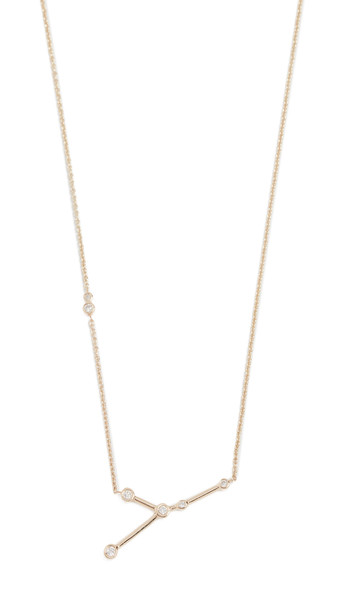Lulu Frost 14k Gold Cancer Necklace with White Diamonds