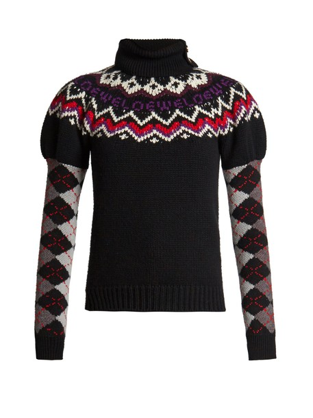 LOEWE sweater wool knit black