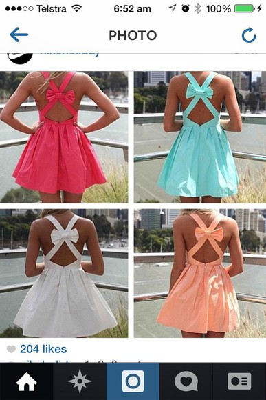 Bow Back Dress bow dress