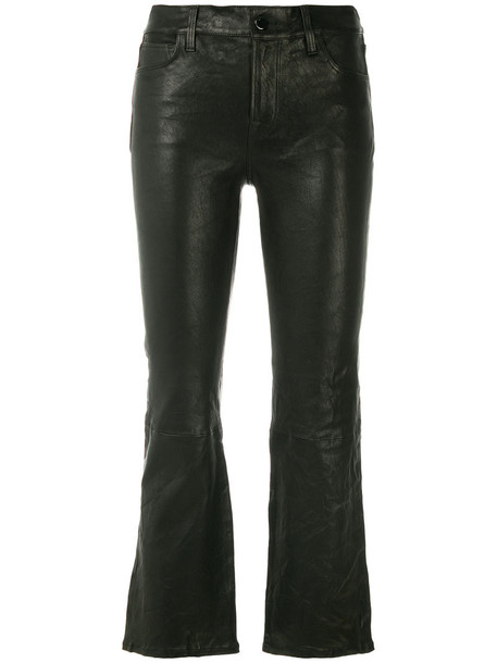 J BRAND women black satin pants