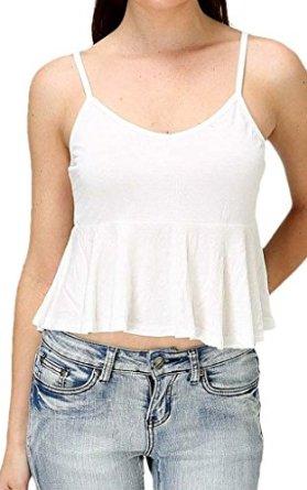 Neck peplum crop top at amazon women's clothing store: