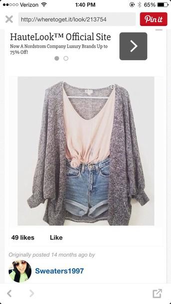 sweater light grey cardigan