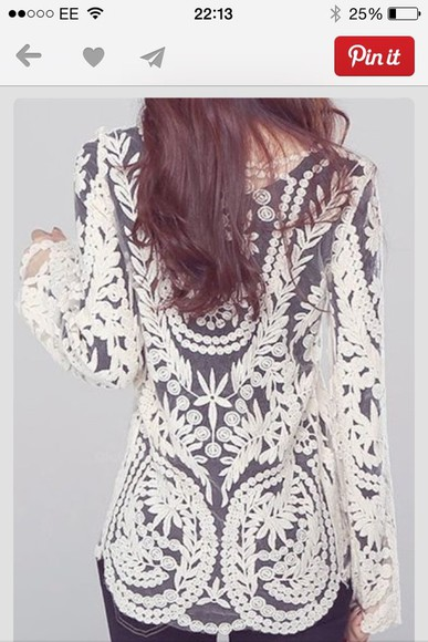 shirt white lace