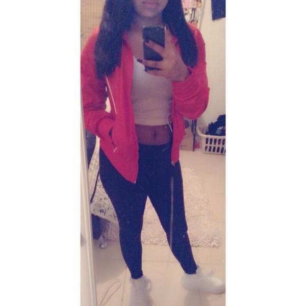 jacket red nike