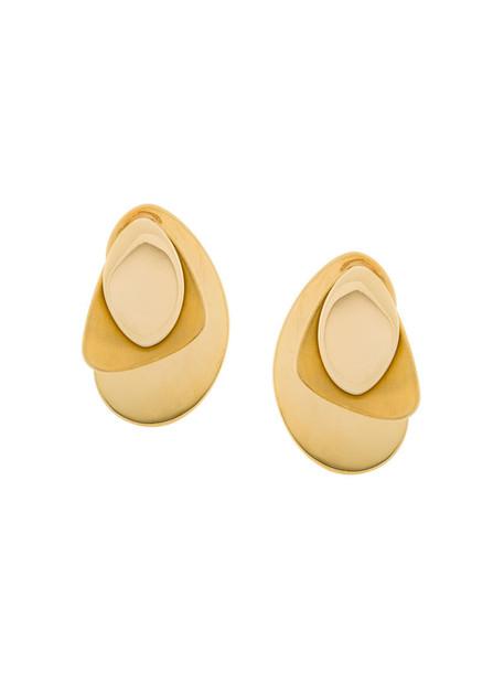 Charlotte Chesnais women earrings silver yellow orange jewels