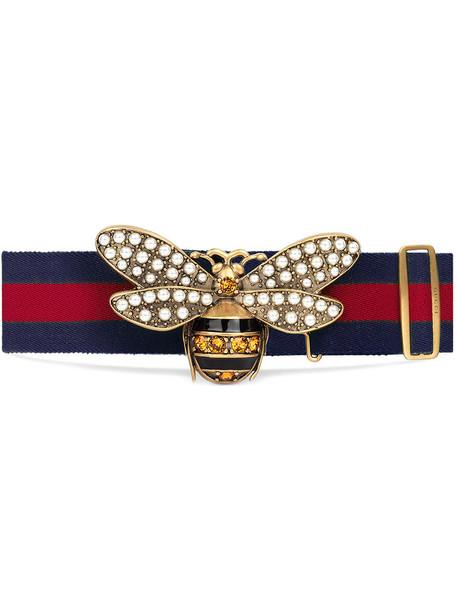 gucci women bee belt red