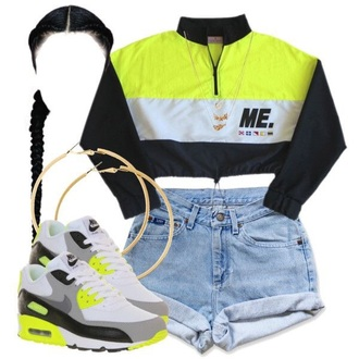 jacket air max lime green shoes lime jacket white black nike shoes