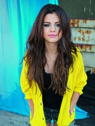 blouse yellow gomaz selena soft nitted pretty