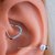 Daith Piercing Bendable Heart Daith Piercing Ring 16g 10mm