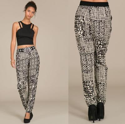 Print drop pants · trendyish · online store powered by storenvy