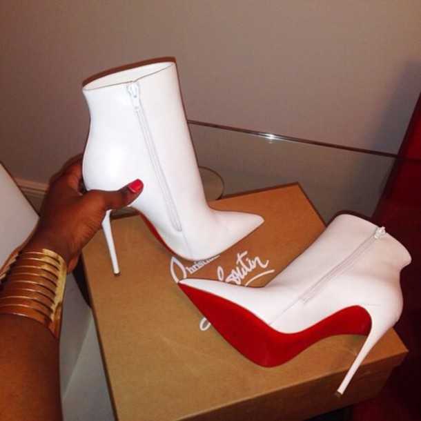 425c7d45318 shoes white red bottom heels