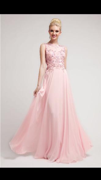 dress prom dress long prom dress pink pink dress prom sparkle sequin prom dress pearl pink beautiful pastel fashion