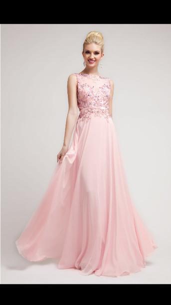 dress, prom dress, long prom dress, long prom dress, pink, pink ...