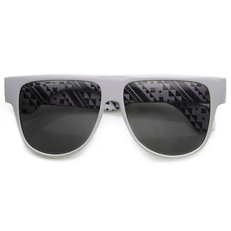 sunglasses eyewear flat top flat top sunglasses printed subnglasses flyjane