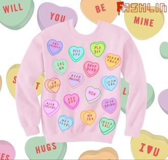 pink pastel goth pastel sweatshirt