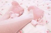 shoes,pink,pastel pink,kawaii,wedges,pastel,pastel kawaii,tights
