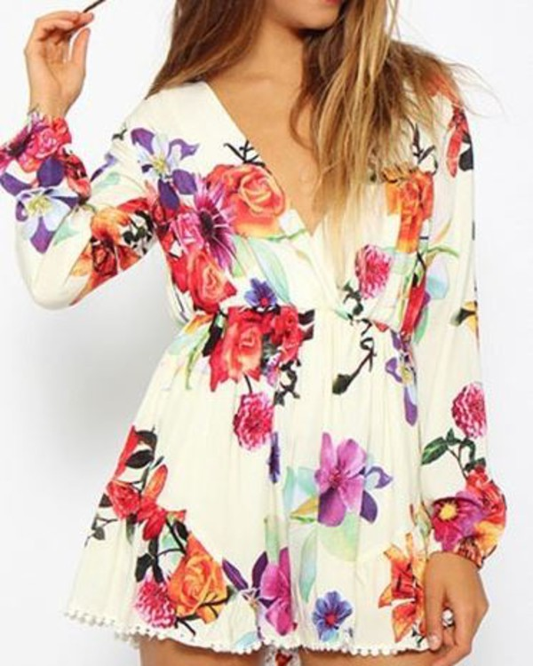 jumpsuit floral romper romper dream closet couture fall outfits chic couture