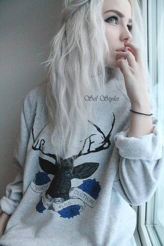 sweater deer sweatshirt