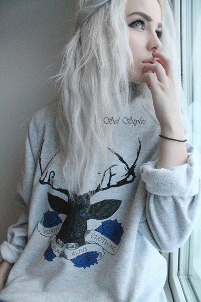 sweater deer sweatshirt