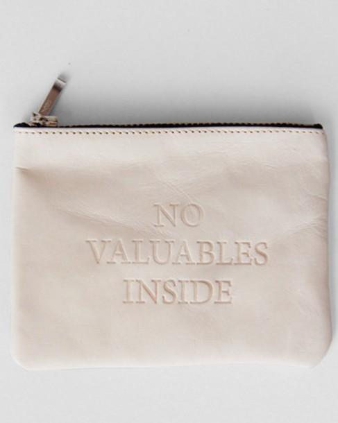 bag wallet clutch pink blush no valuables inside