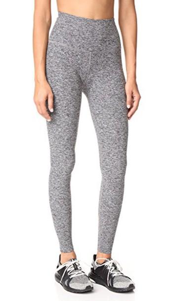 Beyond Yoga High Waist Long Leggings in black / white