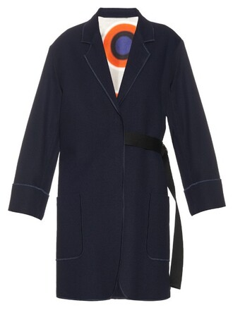 coat oversized navy