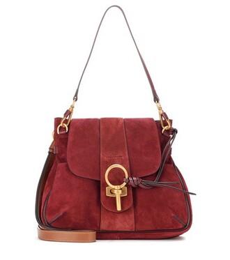 bag crossbody bag suede red