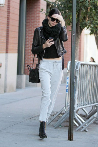 kendall jenner pants top sunglasses streetstyle fall outfits