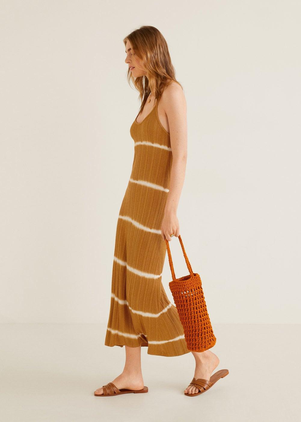 Tie-dye print dress - Women   Mango USA
