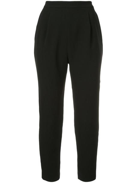 Estnation cropped high women black pants