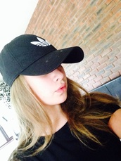 hat,adidas,cap,black and white