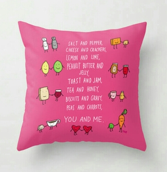 home accessory pink pillow friends girly bestfriends pillow bbf quote on it pillow