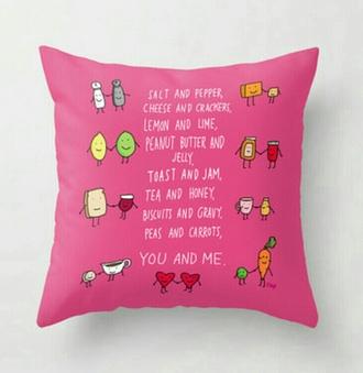 home accessory pink pillow friends girly bestfriends pillow bbf