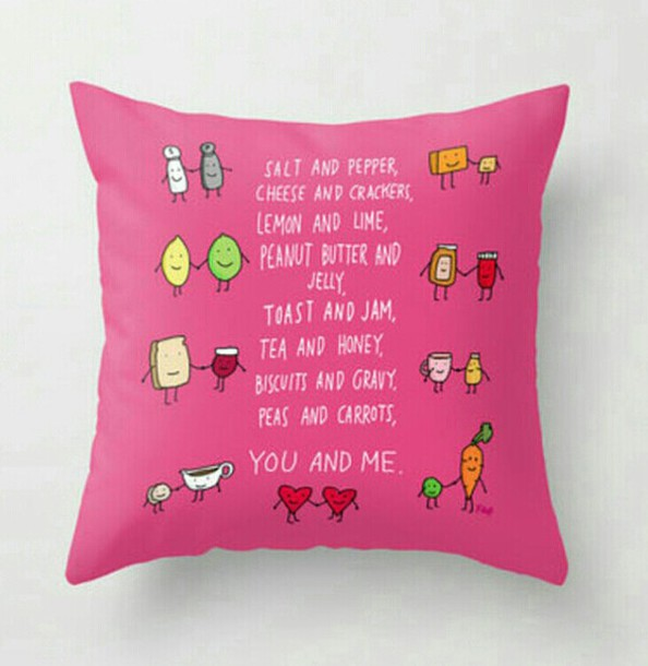 home accessory pink pillow friends girly bff pillow bbf quote on it pillow