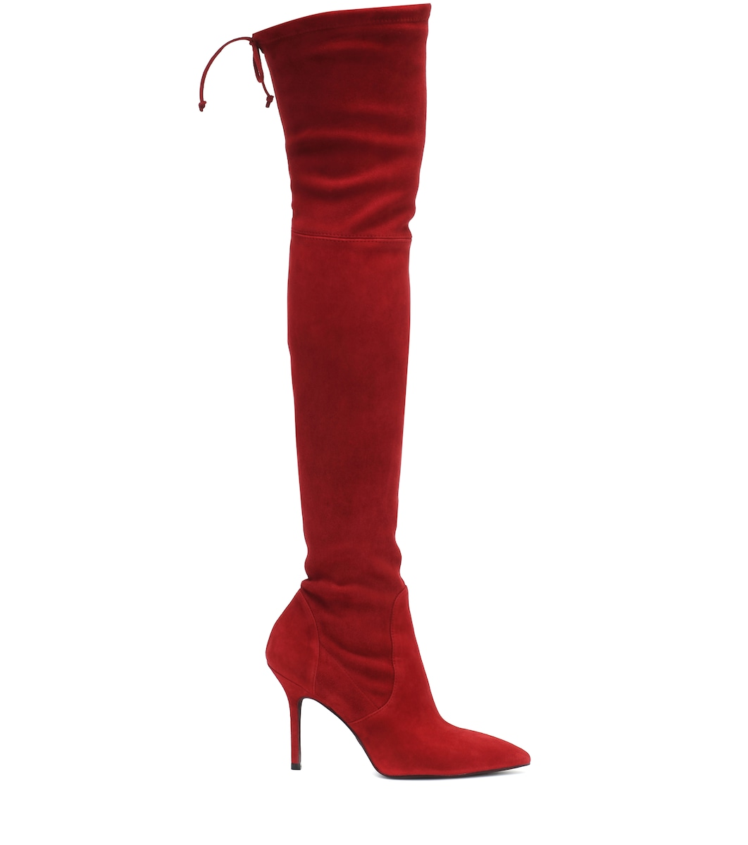 Carine suede over-the-knee boots