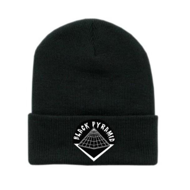 hat black pyramid chris brown beanie 043527a00f1