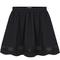 Black contrast mesh yoke pleated skirt - sheinside.com