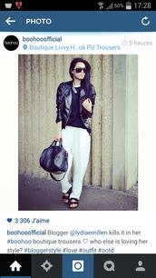 sunglasses,boohoo.com,pants,t-shirt,bag